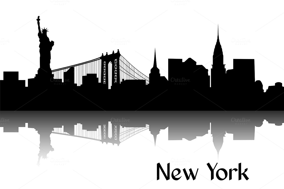 silhouette of new york ~ illustrations on creative market