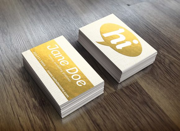 Gold Foil Dotted Business Card Business Card Templates