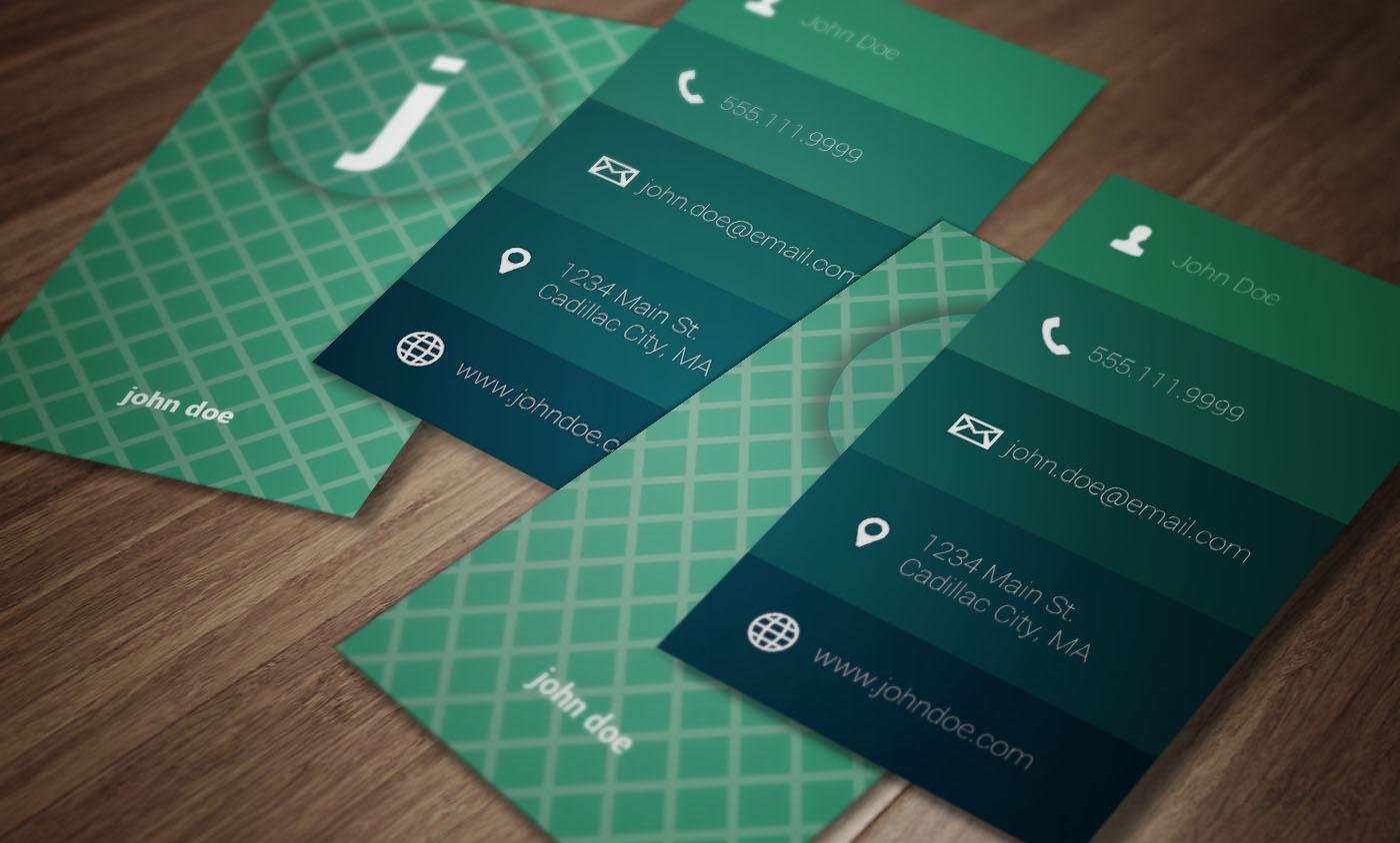 sea foam modern business card  business card templates on