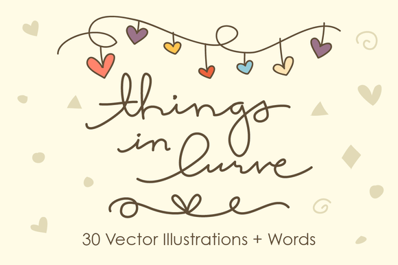 Things In Lurve 30 Vector Objects