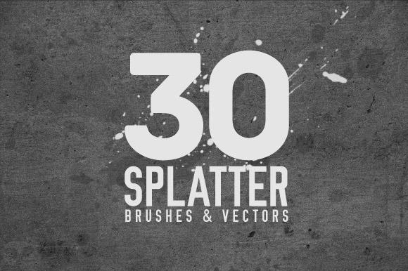 30 Splatter Brushes