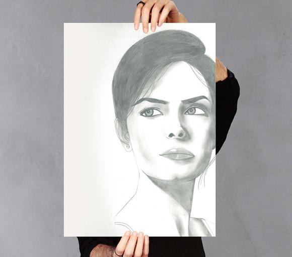 Elegant Lady Sketched Poster