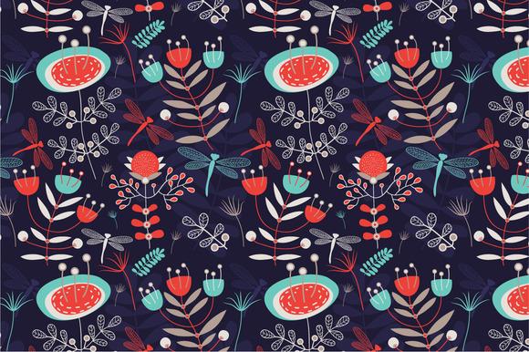 Seamless Pattern Summer Night