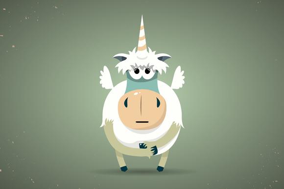 Magic Little Unicorn With A Horn