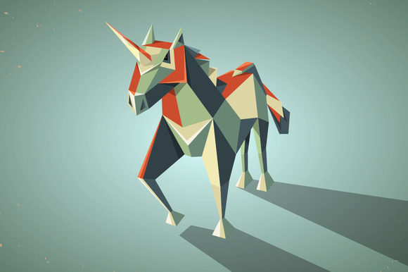 Three Dimensional Origami Unicorn