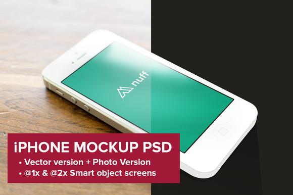 IPhone 5 Mockup Photo Vector