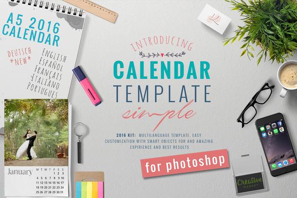 Calendar Typography Kit : A calendar kit stationery templates on creative