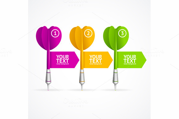 Set of darts option banner. Vector - Illustrations