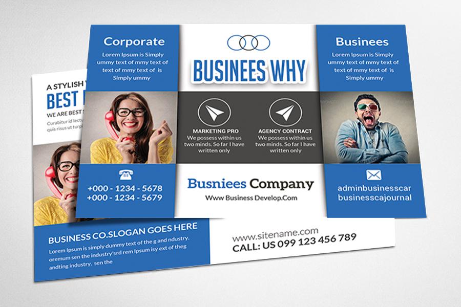Custom Card Template advertising cards templates : Marketing Postcard Template ~ Card Templates on Creative Market