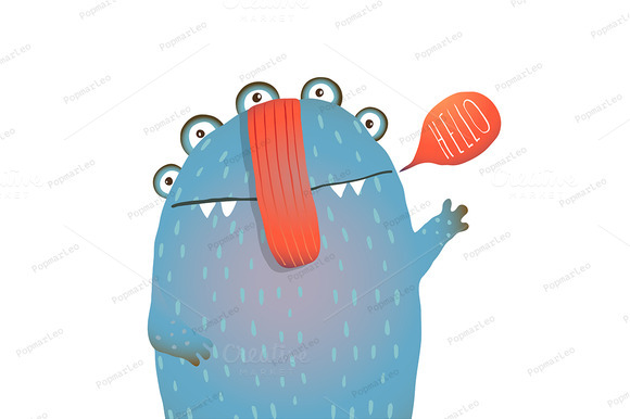 Kind And Cute Funny Monster Saying
