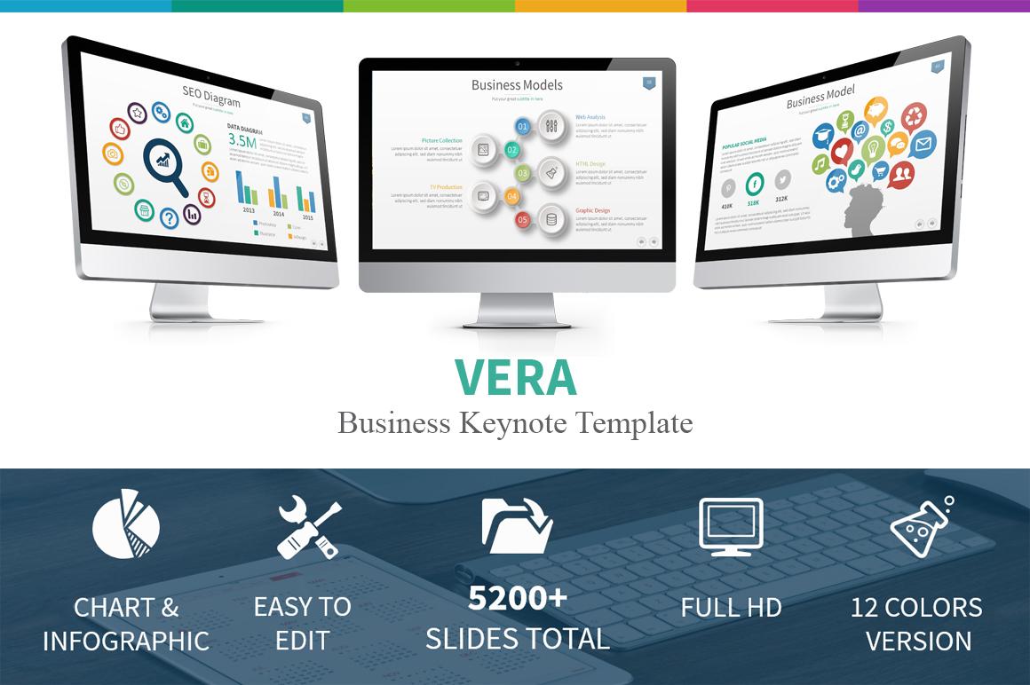 vera business keynote template presentation templates on creative market. Black Bedroom Furniture Sets. Home Design Ideas