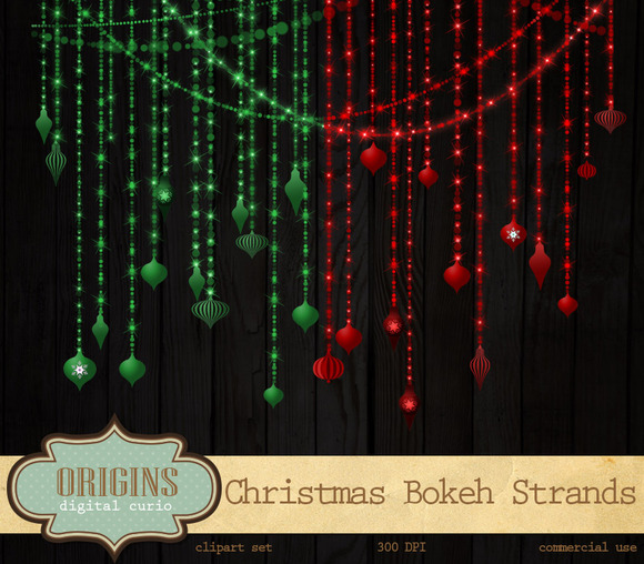 Christmas Bokeh String Light Strands