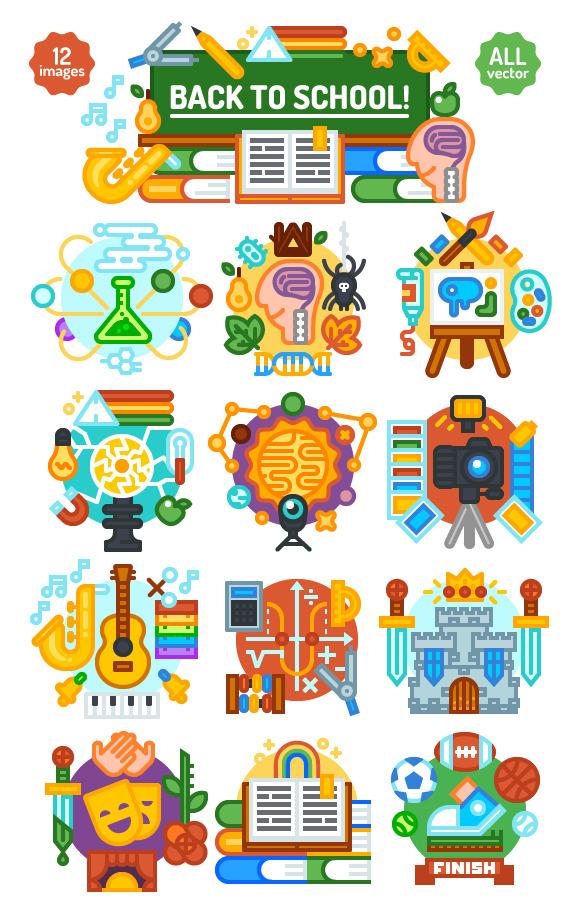 Illustration school subjet