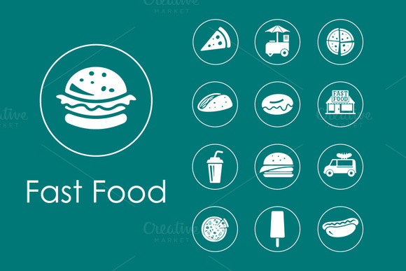 Minimalist Art Fast Food Logos