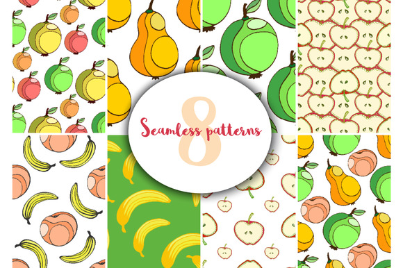 Fruits patterns. Sweet vector - Patterns