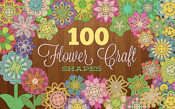 100 Flower Craft Shapes