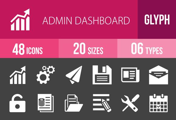 48 Admin Dashboard Glyph Inverted