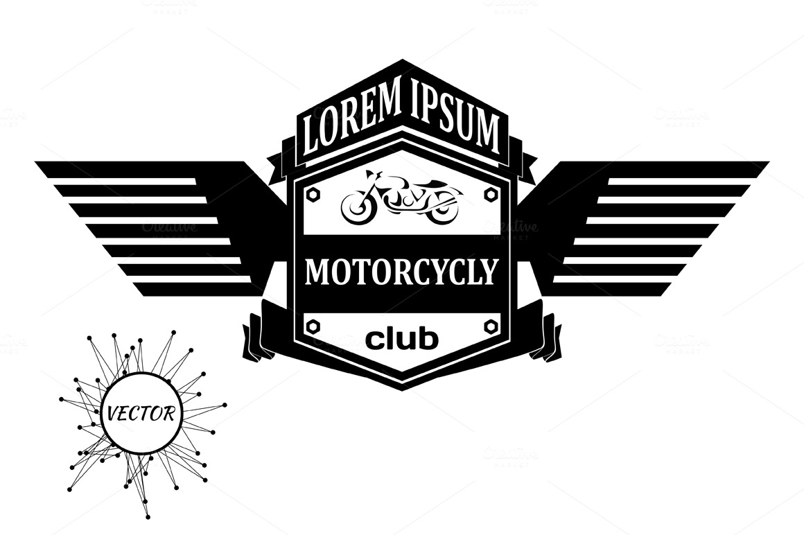 Logo with motorcycle ~ Icons on Creative Market