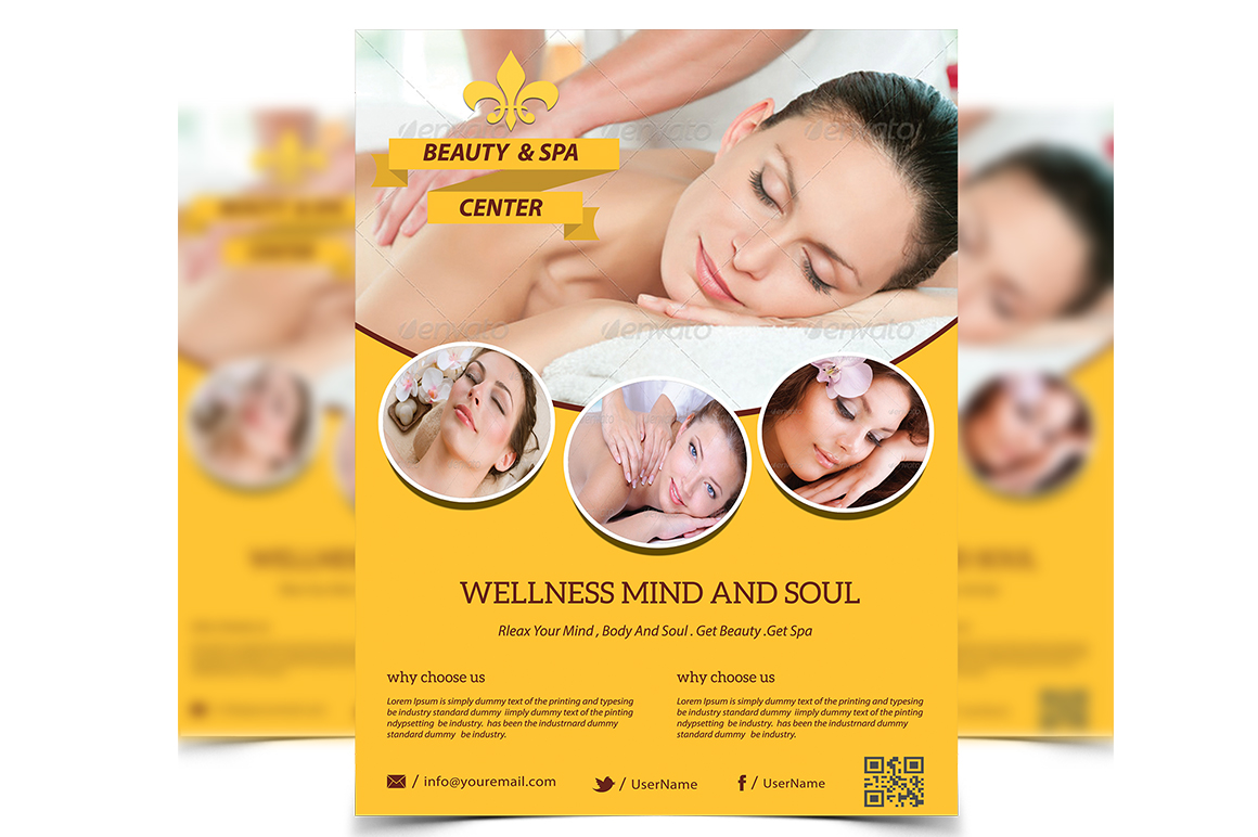 beauty spa flyer