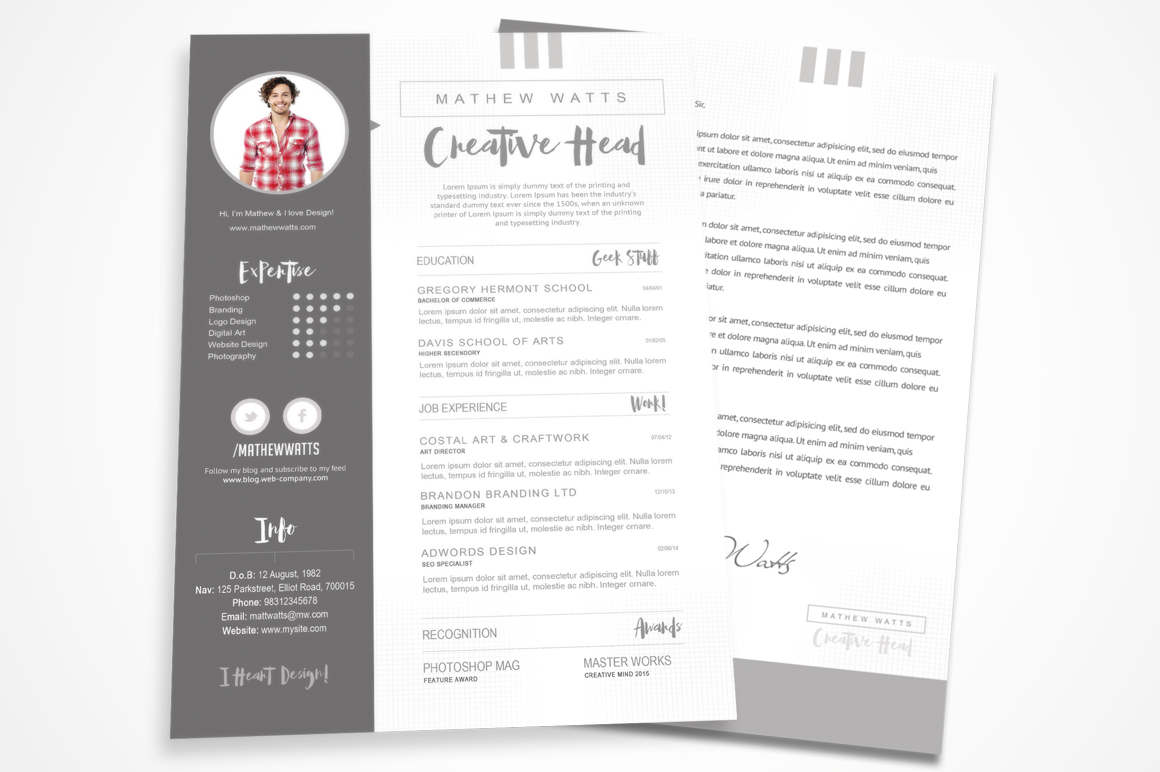sharp  u0026 clean resume for photoshop