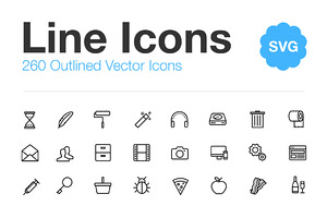 260 Vector Line Icons