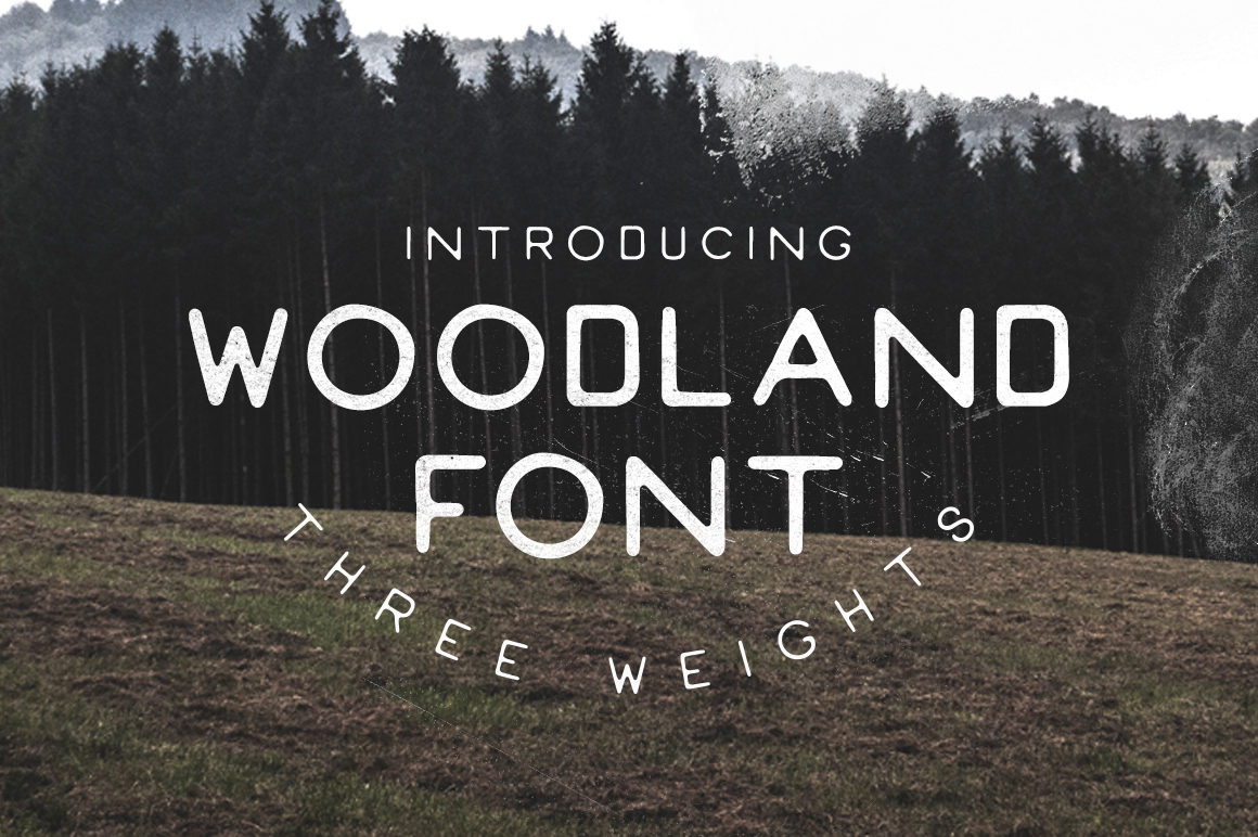 woodland font handmade fonts on creative market