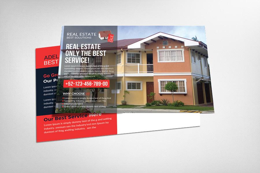 real estate postcard template card templates on creative