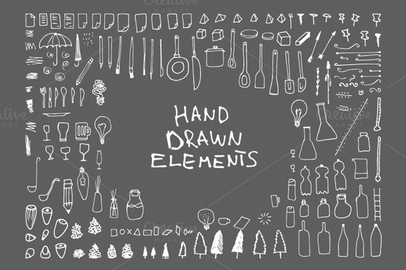 140 Hand Drawn Elements V3 34 Free