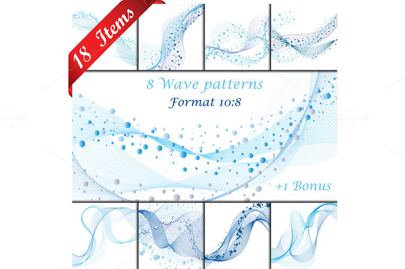 Set Of 18 Wave Patterns