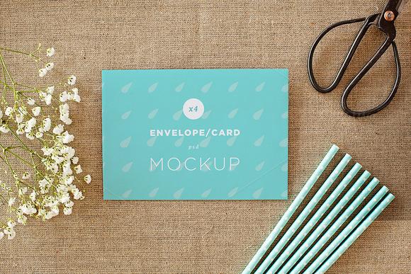 Envelope/card vol.1 -4 photo mockups - Product Mockups