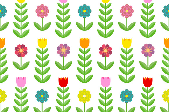 Tulips and flowers. Seamless pattern - Patterns