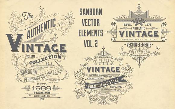 Sanborn Vector Elements Vol. 2 - Objects