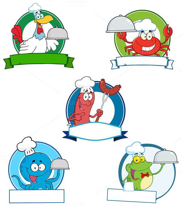Cartoon Banners. Collection Set - Illustrations