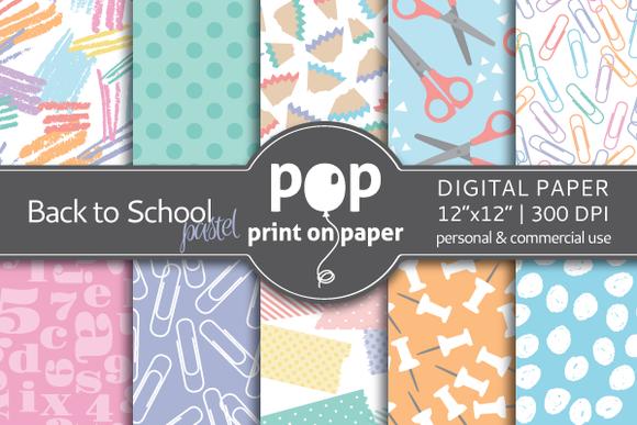 Back To School Pastel Digital Paper