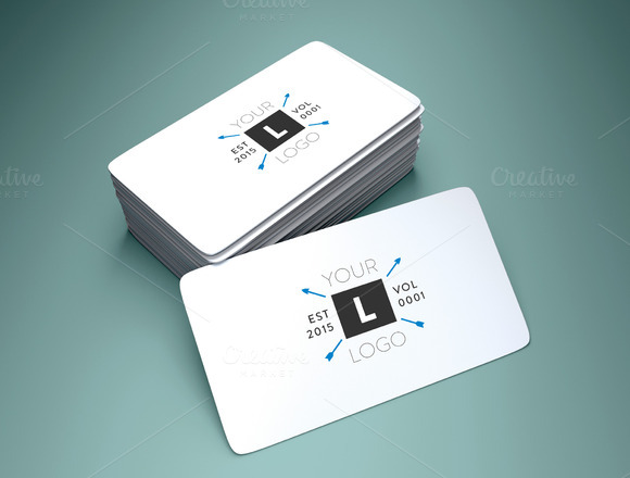 Rounded corner business card mockup product mockups on for Rounded business card mockup