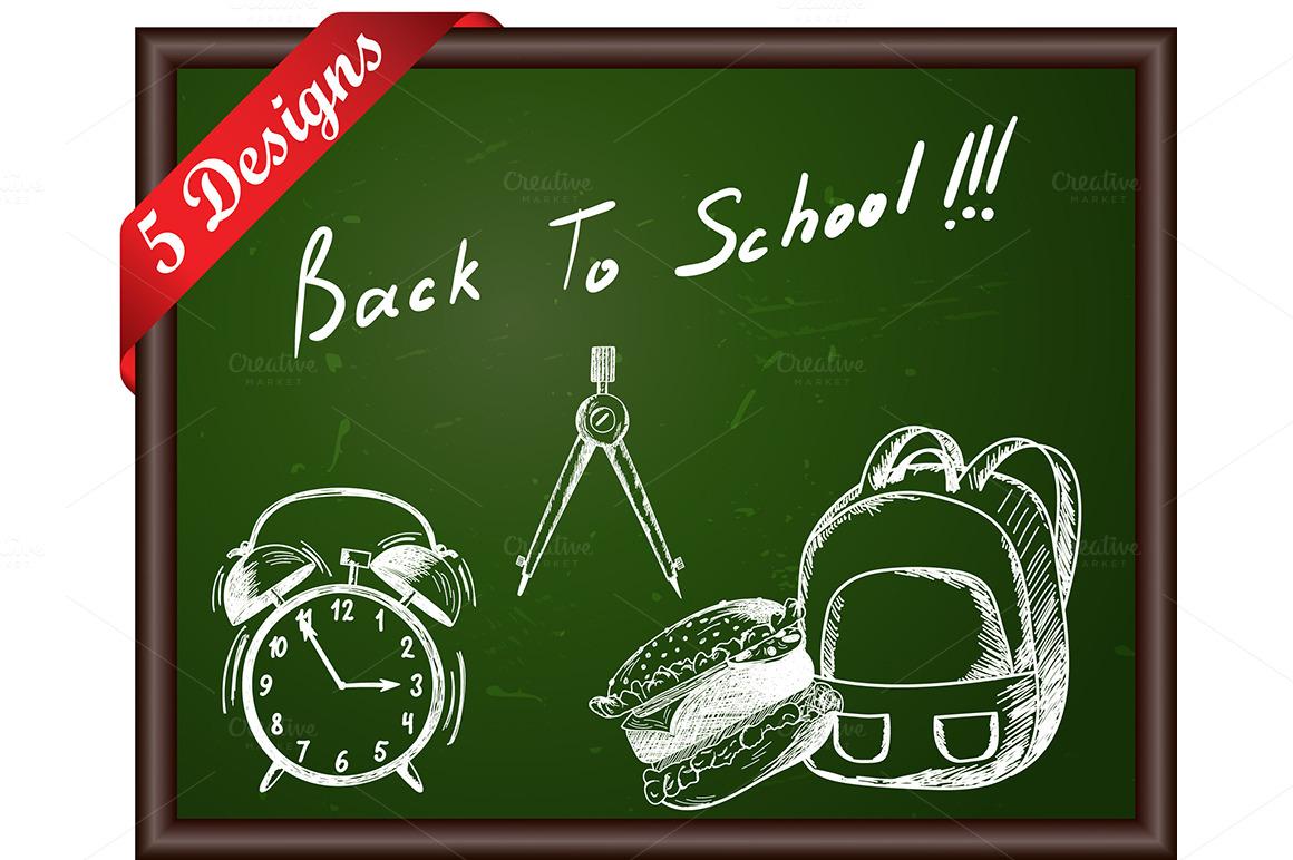 Classroom Blackboard Design ~ Classroom blackboard designs illustrations on creative