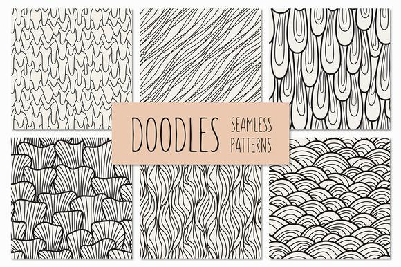 Doodles. Seamless Patterns Set 2 - Patterns
