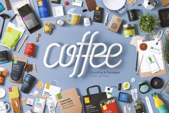 Coffee Branding Packages Mock Up