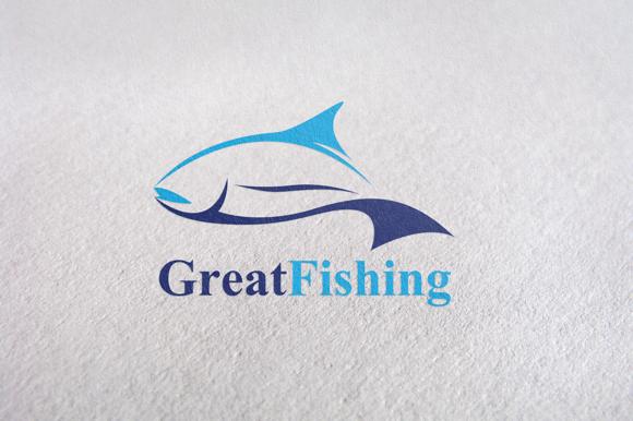 Fishing Fish Brand Logo Template