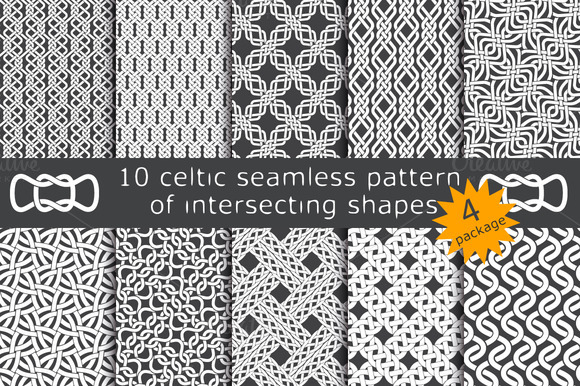 10 celtic patterns. Package 4 - Patterns