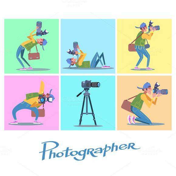 Set Photographer Camera Reporter
