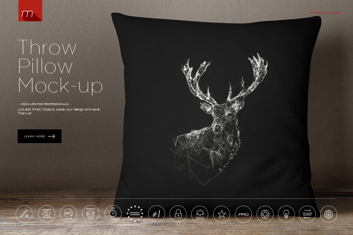Pillow Mock-up ~ Product Mockups on Creative Market