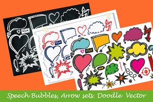 Hand drawing Speech Bubbles,arrows