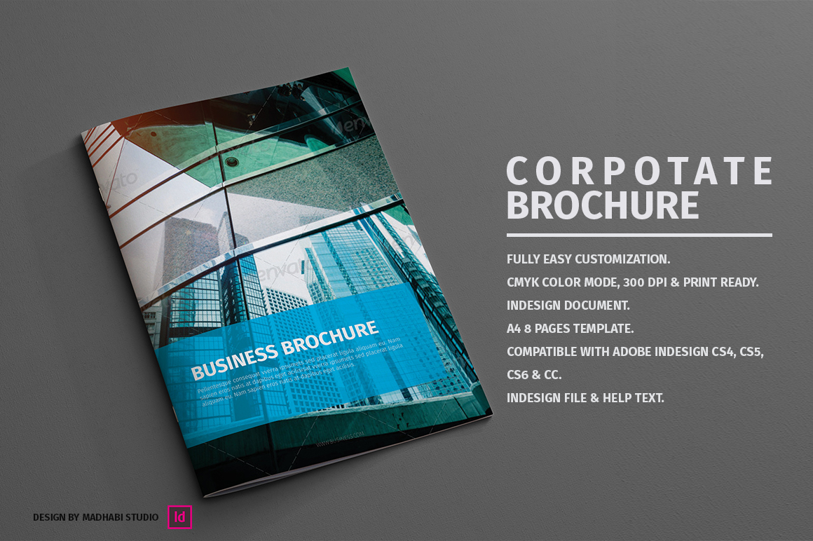 pages template brochure - corporate brochure 8 pages brochure templates on