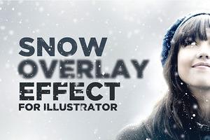 Snowy Overlay Effect for Illustrator