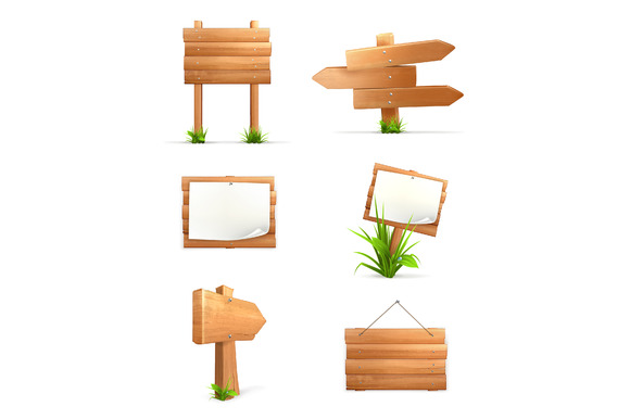 Wooden Signs Icons