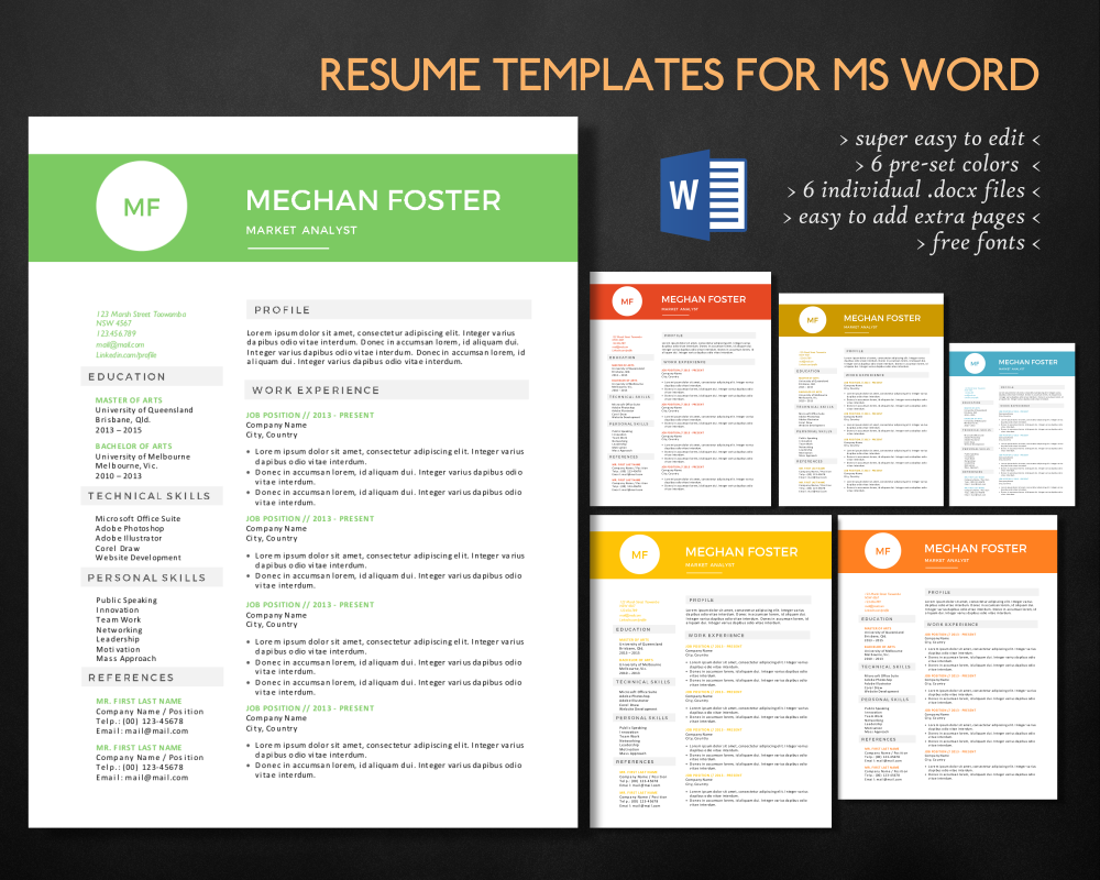 clean 2 in 1 docx resume