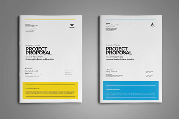 Project Proposal Template ~ Stationery Templates on Creative Market