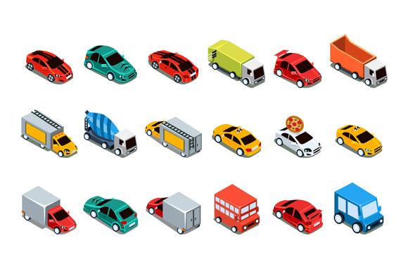 Isometric City Transport 3d