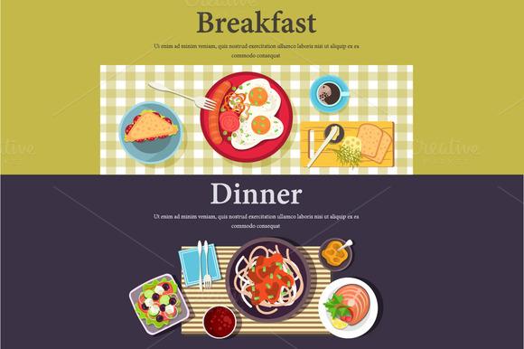 Vector Picture Of Breakfast Dinner